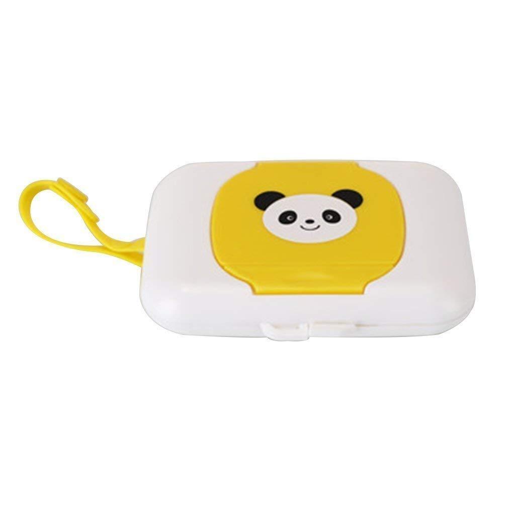 Fliyeong Premium Baby Wipes Dispenser Box Tragbarer Wet Tissue Case weisser Panda