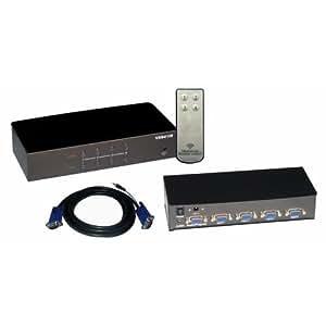 Cables Unlimited SWB-7600A interruptor de ratón/teclado/video (kvm) - Periférico de entrada (1920 x 1440 Pixeles, Negro, 10 - 95%, 2,3 kg, Alámbrico, 200 x 78 x 42 mm)