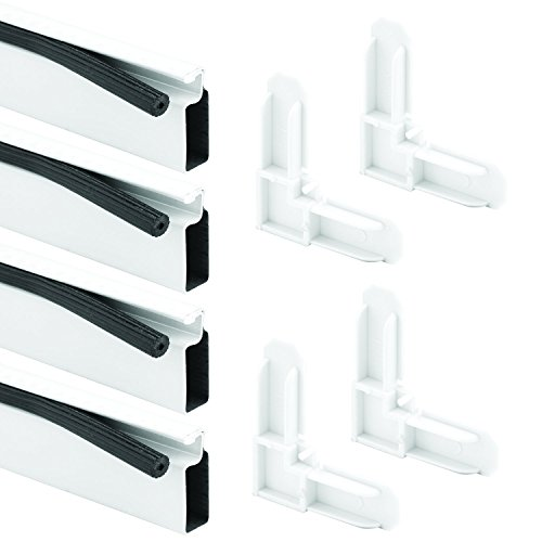 Prime-Line Products PL 7814 Screen Frame Kit, 5/16 in. x 3/4 in. x 60 in., Rolled Aluminum, White, Includes Vinyl Spline & Square-Cut Corners
