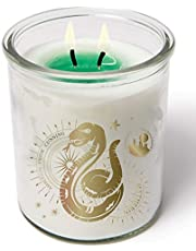 Harry Potter Color Changing Slytherin Candle, 10 oz - Votive Candle Turns from White to Green When Lit - Soy Wax, Unscented