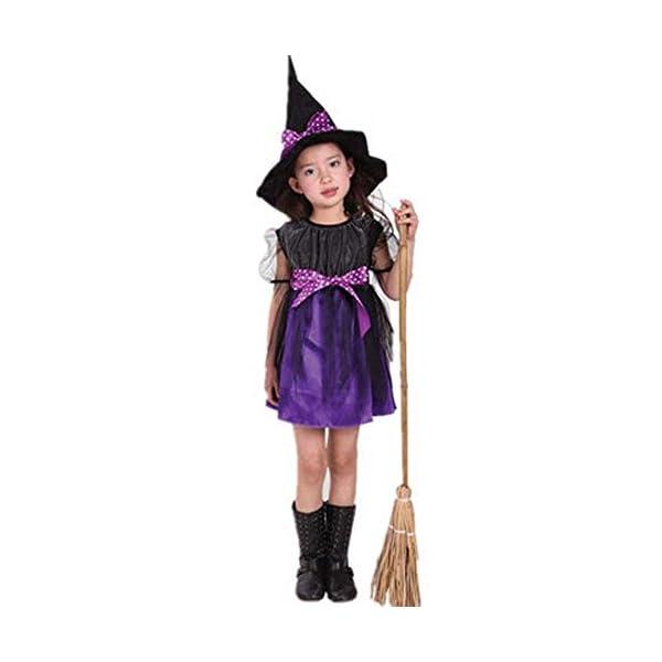 Costume Strega Bambina Ragazze Halloween Vestito con Cappello Bambino Strega Costume Abito Tutu Costume di Halloween… 1 spesavip