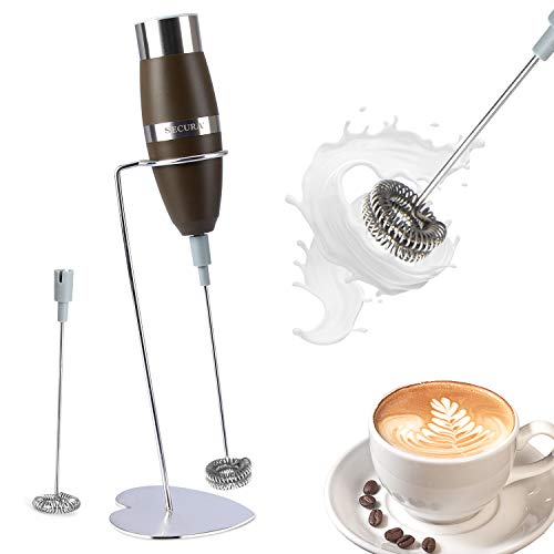 Secura Milk Frother Handheld, Battery-Operated, Electric Double Whisk Foam Maker – Milk Frother for Coffee, Lattes…