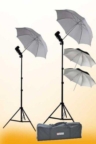 (ePhoto 2 x off Camera flash Photography Umbrella Flash Shoe Mount Swivel Flash Adapter)