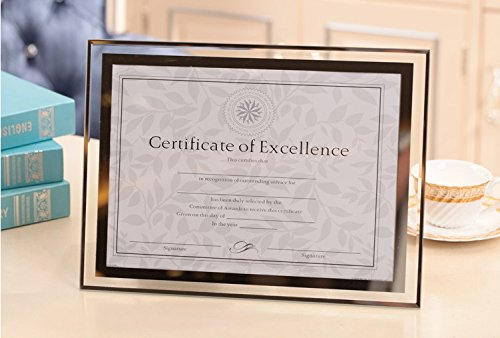 Graces Dawn Crystal glass Photo/ Diploma / Document Frame Frame picture size 8.5'' x 11'' 217mm279mm by Graces Dawn
