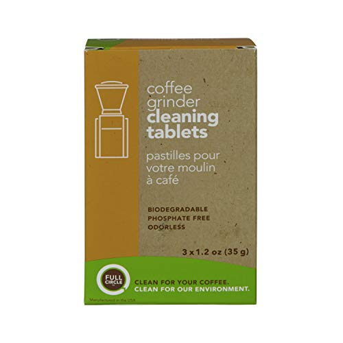 Urnex Full Circle Coffee Grinder Cleaning Tablets - 3 Single Use Packets - Coffee Grinder Cleaner Removes Coffee Residue and Oils (Burr Coffee Grinders Baratza)