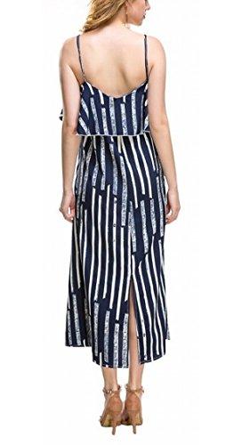 Off Spaghetti Sexy Stripe Dress Womens Long Strap Shoulder Party 1 Jaycargogo BfqS7x