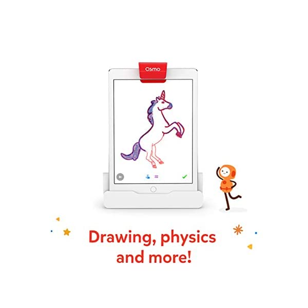 Osmo – Base – 2 giochi di apprendimento mani – disegno creativo e risoluzione dei problemi – fisica precoce – bianco/rosso 3 spesavip
