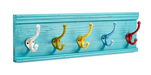 AdirHome Coat Hooks - Hat Hooks - Towel Hooks (Colorful Classroom) (Kids Towel Hooks)