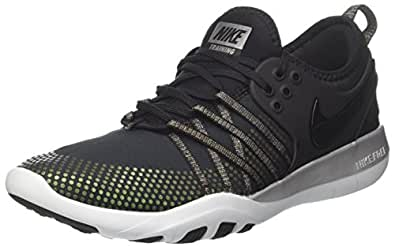 NIKE Women's Free TR 7 MTLC Training Shoe Black/Blackpure Platinum Size 9.0