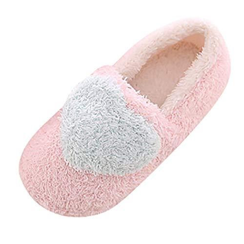 Coral Bottes Loisir Pantoufles Bleu cœur Décontractées Imprimé Femmes Coeur Chaussures Intérieur Velours UIx5wgqZx