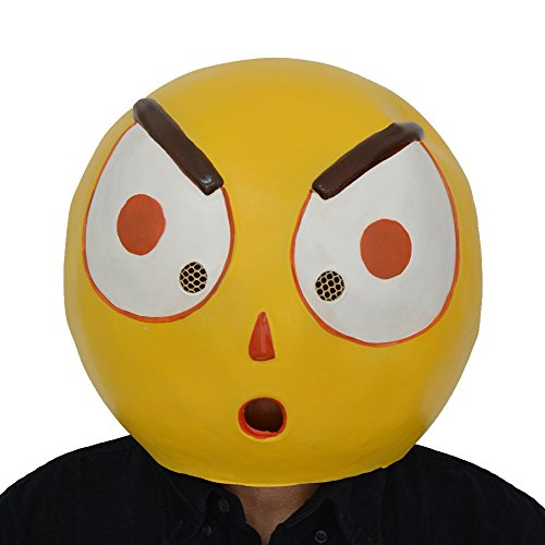 Creative Cute Halloween Costumes College (Amazlab Emoji Surprising Mask for Costume Parties Decorations, Party Supplies, Party Props)