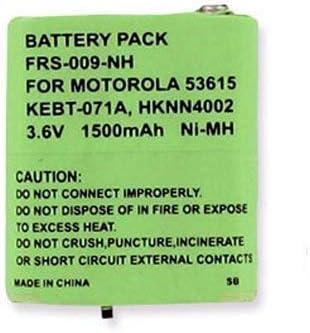 replacement for Motorola 53615 Rechargeable Battery Ni-MH 3.6V 1500mAh Motorola KEBT-1300 2-Way Radio Battery
