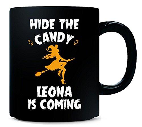 Hide The Candy Leona Is Coming Halloween Gift - Mug]()