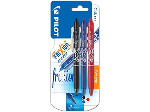 Pilot Frixion Clicker Retractable Erasable Rollerball, 0.7 mm Tip -...