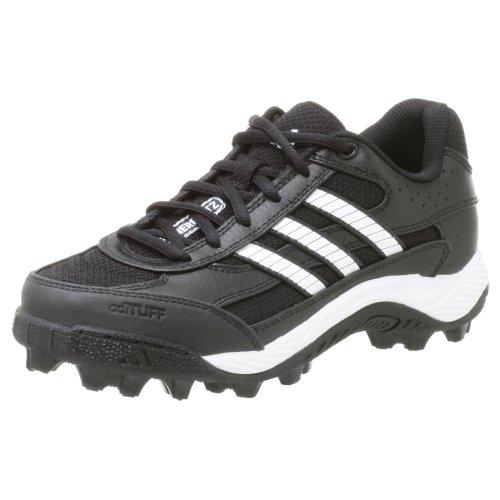 - adidas Boy's Corner Blitz 7 J Low,Black/Runwht/Metsil,4 M