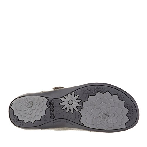 Vionic Met Orthaheel Technologie Dames Joan Mary Jane Mule Tin Metallic Maat 9