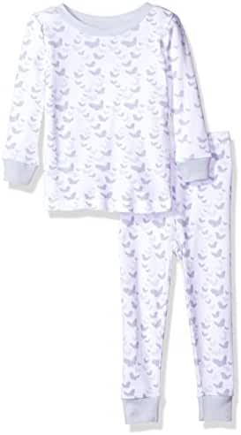 Burt's Bees Baby Baby Pajama Tee and Pant Set, 100% Organic Cotton