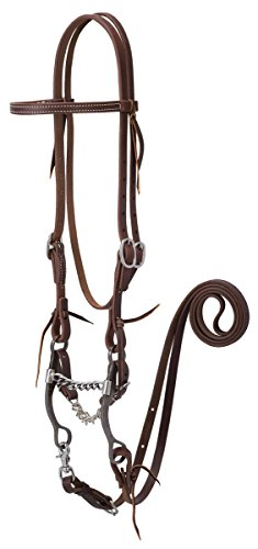 Weaver Leather Working Tack Bridle with Chain Mouth Bit