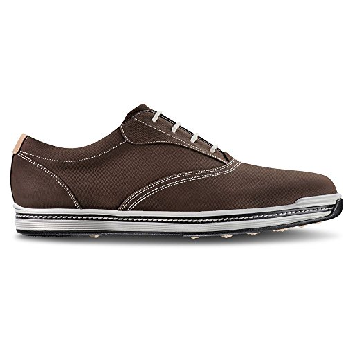 FootJoy Contour Casual Spikeless Golf Shoes 2017 Dark Brown Medium 10.5 (Footjoy Golf Shoes Spikeless)