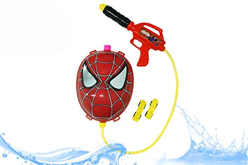 ns Powerful Pistol Squirt Gun Backpack Toy - Spider-Man Water Back Pack Style (Spider Man Water Gun)