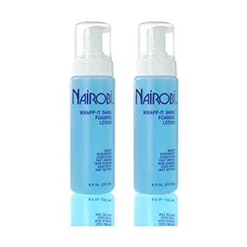 Amazon Com Nairobi Wrapp It Shine Foaming Lotion 8 Fl Oz 237 Ml Pack Of 2 Hair Regrowth Styling Products Beauty