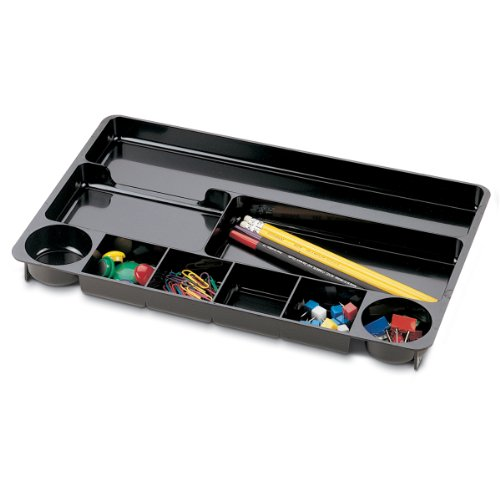 (Officemate 9 Compartment Drawer Tray, Black)