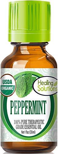 Organic Peppermint Essential Oil (100% Pure - USDA Certified Organic) Best Therapeutic Grade Essential Oil - 30ml
