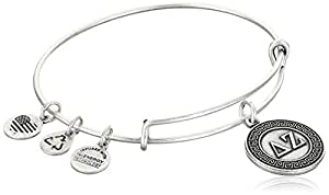 "Alex and Ani ""Sorority"" Delta Zeta Expandable Rafaelian Silver-Tone Wire Bangle Bracelet"