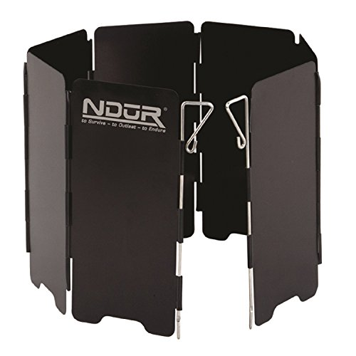 NduR Mini Stove Windshield, Black -