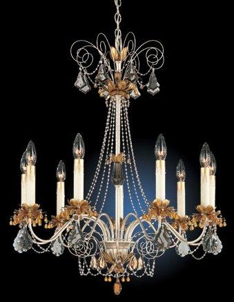 Schonbek Florentine Silver 9 Light Topaz Chandelier