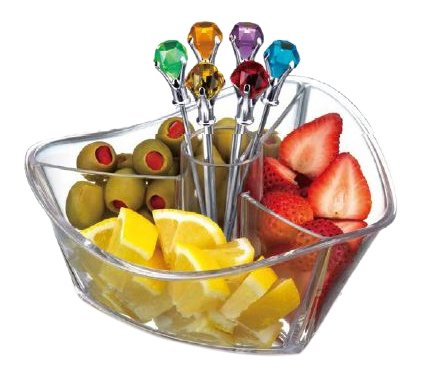 Prodyne GS-7-C Garnish Server (Set of 6), Clear
