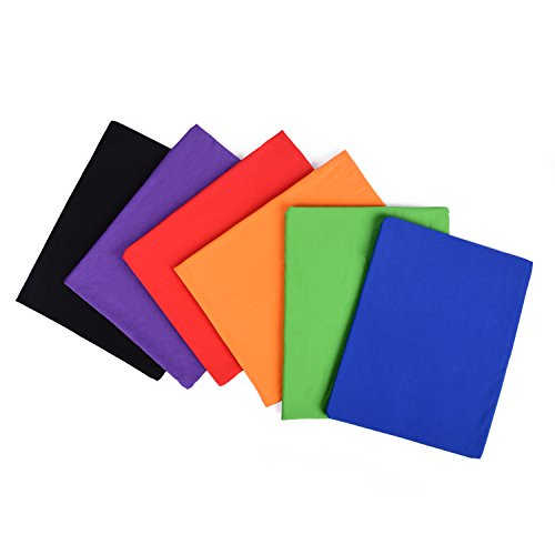6 Color Stretchable Fabric Book Covers & Stickers - Jumbo Size Up to 9x12 inch easy to put on - Machine Washable - For school home and office