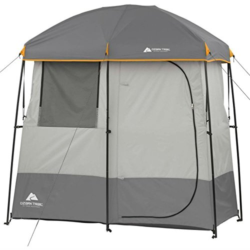ESG Warehouse 2 Room Shower Tent Camping Gear Beach Shelter Outdoor Hiking OutdoorTrail Grey Cabana