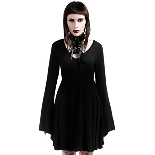 Killstar Me Lace Schwarz Gothic Up Spyda Kleid rR6z7wqr