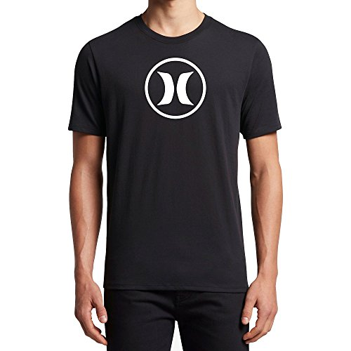 Hurley New Men's Circle Icon Dri-Fit Ss Tee Crew Neck Polyester Black, Small ()