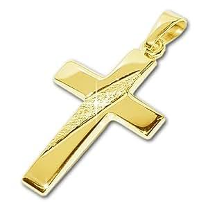 """CLEVER joyas Dorado Colgante """"Cruz 21 mm horizontal oro"""" brillante de oro 333 (F), nuevo"""