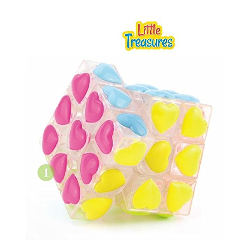 Little Treasures Stickerless White Love Cube Adjustable corner cutting tension Cube 3X3X3 Puzzle
