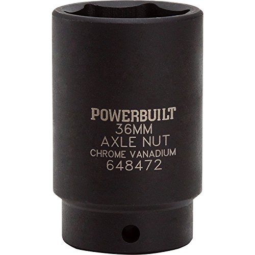 Powerbuilt 648472 1/2-Inch Drive x 36mm Axle Nut Socket for sale  Delivered anywhere in USA