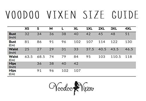 Neues Voodoo Vixen 50s Rockabilly Retro Vintage Stil Katze Katnis Wiggle Bleistift Kleid
