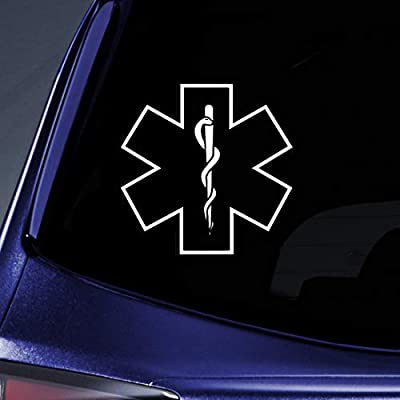 Bargain Max Decals - Star of Life Medical - Sticker Decal Notebook Car Laptop 5