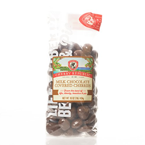 Cherry Republic Chocolate Cherries - Authentic and Fresh Chocolate Covered Cherries Straight from Michigan - Milk Chocolate, 16 Ounces