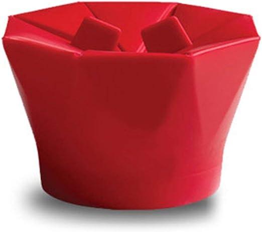 Microondas de silicona para hacer palomitas de maíz Herramientas caseras deliciosas para hornear tazón de palomitas de maíz rojas: Amazon.es: Hogar