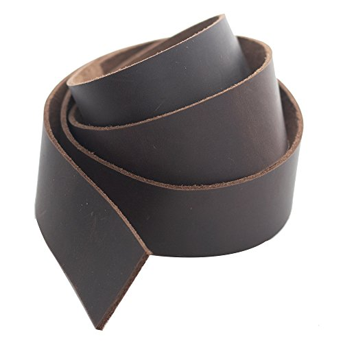 (Realeather Crafts SS15042-02 Leather Strip, 1.5 by 42-Inch, Medium Brown )