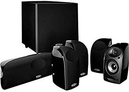 "Polk Audio Blackstone TL1600 Compact Home Theater System | Total 6 Items - 4 TL1 Satellite Speakers, 1 Center Channel & an 8"" Powered Subwoofer 