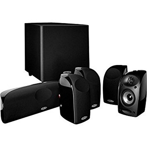 Polk Audio Blackstone TL1600 Compact Home Theater System | Total 6 Items - 4 TL1 Satellite Speakers, 1 Center Channel & an 8