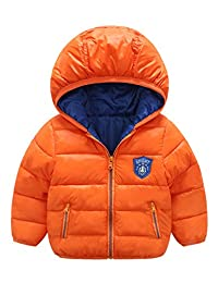 LANBAOSI Toddler Baby Boys Girls Winter Puffer Coat Warm Hoodie Jacket Outwear