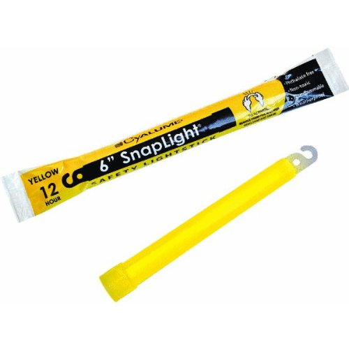 Cyalume 12 Hour Survival Light Sticks Two-Pack - Yellow