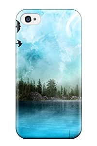 Protective Tpu Case With Fashion Design For Iphone 4/4s (art)