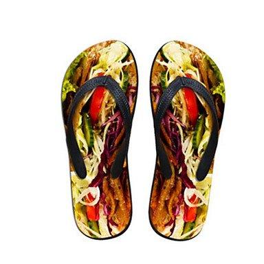 En Cn38 De UK7 5 Us7 De Amarilla De US9 Artesanales EU40 Forma CN41 Impresos Creativa La Personalidad Zapatillas 2017 5 Ue38 Uk5 3D Playa De RTRY Mujeres p40EBqW