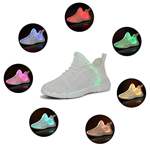 Light up Shoes For Kids White LED Sneakers Flashing Running Shoes